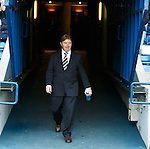 Stuart McCall walks out the Ibrox tunnel as Rangers manager for the first time