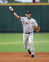 Salt Lake Bees Gary Patchett during the 2007 Pacific Coast League Season. Photo by Andrew Woolley/ Four Seam Images.