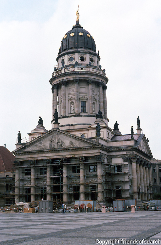 East Berlin: French Church, Platz der Akademie. This was a Protestant church. Photo '87.