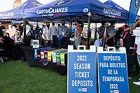 SAN JOSE, CA - SEPTEMBER 4: Fan Services at PayPall Park before a game between Colorado Rapids and San Jose Earthquakes at PayPal Park on September 4, 2021 in San Jose, California.