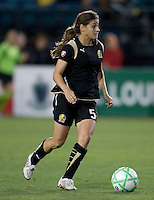23 July 2009:  Tina DiMartino of the FC Gold Pride in action during the game against LA Sol at Buck Shaw Stadium in Santa Clara, California.   FC Gold Pride tied Los Angeles Sol, 0-0.