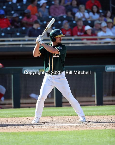Jeremy Eierman - Oakland Athletics 2020 spring training (Bill Mitchell)