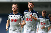 Alex Pearce of Millwall warms up ahead of Millwall vs Middlesbrough, Sky Bet EFL Championship Football at The Den on 8th July 2020