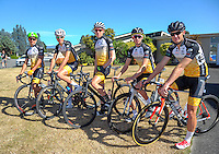 The Beehive team before stage three of the NZ Cycle Classic UCI Oceania Tour in Wairarapa, New Zealand on Tuesday, 24 January 2017. Photo: Dave Lintott / lintottphoto.co.nz