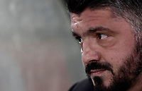 Calcio, Serie A: AS Roma - AC Milan, Roma, stadio Olimpico, 25 febbraio, 2018.<br /> Milan's coach Gennaro Gattuso waits for start of the Italian Serie A football match between AS Roma and AC Milan at Rome's Olympic stadium, February 28, 2018.<br /> UPDATE IMAGES PRESS/Isabella Bonotto