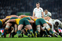 George Ford and Jonathan Joseph of England during Match 26 of the Rugby World Cup 2015 between England and Australia - 03/10/2015 - Twickenham Stadium, London<br /> Mandatory Credit: Rob Munro/Stewart Communications