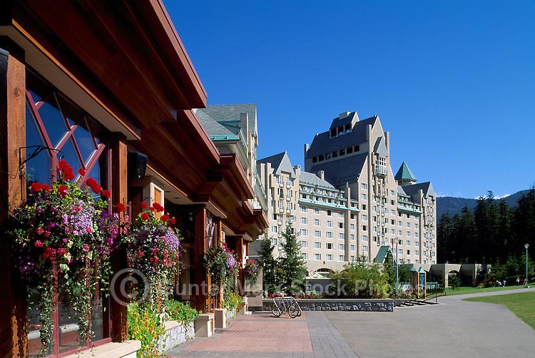 Whistler Blackcomb Resort, BC, British Columbia, Canada - Restaurant and Fairmont Chateau Whistler, Summer