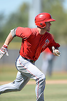 Los Angels Angels of Anaheim catcher Chase Patterson (20) during an instructional league game against the Colorado Rockies on September 30, 2013 at Tempe Diablo Stadium Complex in Tempe, Arizona.  (Mike Janes/Four Seam Images)