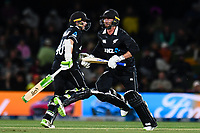 23rd March 2021; Christchurch, New Zealand;  Tom Latham of the Black Caps and Devon Conway of the Black Caps during the 2nd ODI cricket match, Black Caps versus Bangladesh, Hagley Oval, Christchurch, New Zealand.