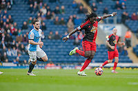 BLACKBURN, ENGLAND - JANUARY 24:  Bafetibis Gomis of Swansea City  during the FA Cup Fourth Round match between Blackburn Rovers and Swansea City at Ewood park on January 24, 2015 in Blackburn, England.  (Photo by Athena Pictures/Getty Images)