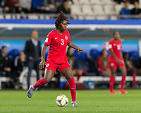 GRENOBLE, FRANCE - JUNE 15: Kadeisha Buchanan #3 of the Canadian National Team controls the ball during a game between New Zealand and Canada at Stade des Alpes on June 15, 2019 in Grenoble, France.