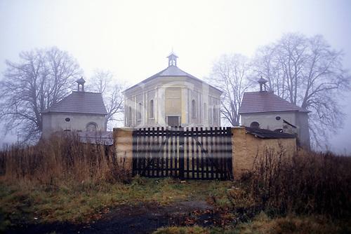 Czech Republic. Rural church with side chapels.