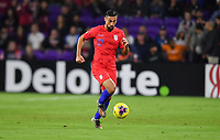 ORLANDO, FL - NOVEMBER 15: Sebastian Lletget #17 of the United States moves with the ball during a game between Canada and USMNT at Exploria Stadium on November 15, 2019 in Orlando, Florida.