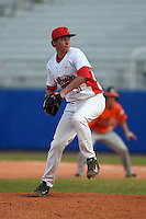 Illinois State Redbirds pitcher Jeffrey Barton (31) during a game against the Bowling Green Falcons on March 11, 2015 at Chain of Lakes Stadium in Winter Haven, Florida.  Illinois State defeated Bowling Green 8-7.  (Mike Janes/Four Seam Images)