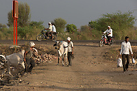 Farmers in the drought-hit region of Latur, Maharashtra, western India.
