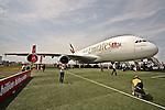 10.06.2010, ILA Internationalen Luftfahrt-Ausstellung ,Flughafen Schönefeld Berlin, GER, im Bild Airbus A380 der Emirates Foto © nph / Hammes