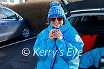 Sheila O'Sullivan enjoying a cuppa after a swim in Fenit on Sunday morning