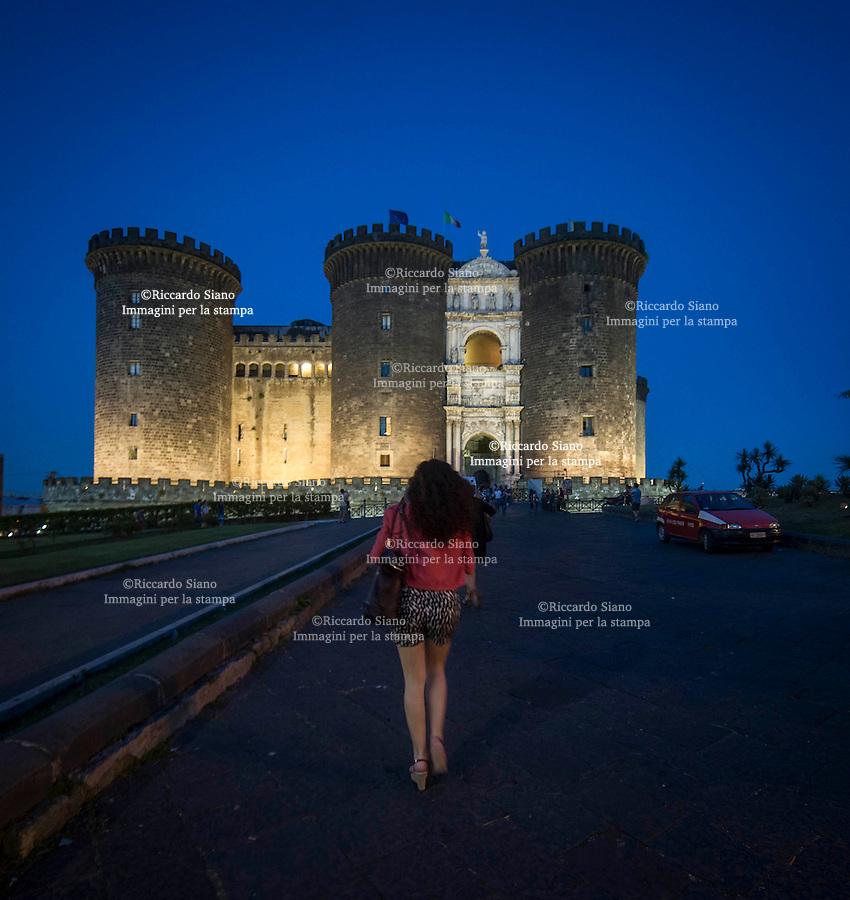 - NAPOLI 26 GIU 2015 -  Maschio Angioino - Cortile di Napoli  location del Maschio Angioino di Napoli, nell`ambito della Rassegna Estate a Napoli.