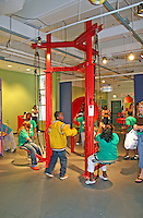 Mixed ethnic children interactive exhibits Mary Brogan Museum of Art and Science Tallahassee Florida