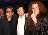 FORT LAUDERDALE FL - MAY 08: Richie Supa, Jimmy Page and Yngwie Malmsteen attend the Brazilian children's charity event held at the Fort Lauderdale Marriott on May 8, 2002 in Fort Lauderdale, Florida. : Credit Larry Marano © 2002