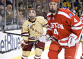(Whitney) Patrick MacGregor (BU - 4) - The Boston College Eagles defeated the Boston University Terriers 3-2 (OT) to win the 2012 Beanpot championship on Monday, February 13, 2012, at TD Garden in Boston, Massachusetts.