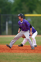 Wisconsin-Whitewater Warhawks Trent Borgardt (33) during a game against the St. Thomas Tommies on March 27, 2016 at Lake Myrtle Park in Auburndale, Florida.  Wisconsin-Whitewater defeated St. Thomas 13-1.  (Mike Janes/Four Seam Images)
