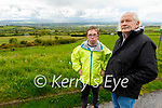 Seamús Fleming with his son Patrick standing at the Viewing Park in Glounsharoon Castleisland where he wants the Kerry County Council to remove the materials yard.