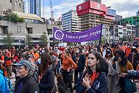 Finale de la Marche pour la Réconciliation, le 30 septembre 2021, prees du parvis de la Place des arts.<br /> <br /> Il s'agit de la 1ere journée de commémoration des enfants des pensionnats.<br /> <br /> PHOTO : Agence Quebec Presse