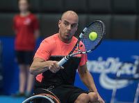 Rotterdam, Netherlands, December 13, 2016, Topsportcentrum, Lotto NK Tennis, Wheelchair,  Berry Korst (NED)<br /> Photo: Tennisimages/Henk Koster