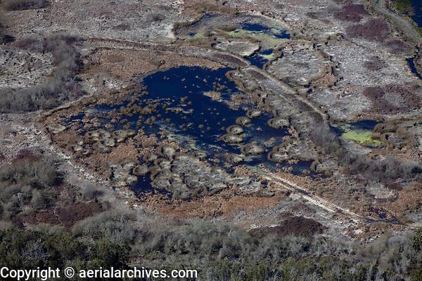 aerial photograph of a coastal wetland near Oceano, San Luis Obispo County, California