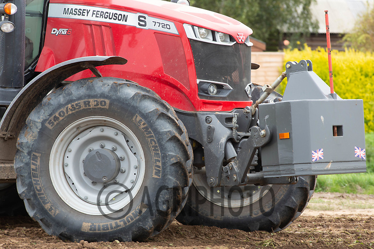 7.9.2020 Front weight block on a Massey Ferguson tractor<br /> ©Tim Scrivener Photographer 07850 303986<br />      ....Covering Agriculture In The UK.