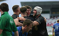 15 January 2021; Aaron Sexton is congratulated during the A Interprovincial match between Ulster and Leinster at Kingspan Stadium in Belfast. Photo by John Dickson/Dicksondigital