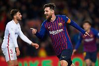 BARCELONA, 30-01-2019. Copa el Rey 2018/ 2019, round of 8 first leg. Barcelona-Sevilla. Lionel Messi of FC Barcelona celebrates his goal (6-1)  during the game Barcelona 6-1 Sevilla <br /> Foto Pressinphoto/Proshots/Insidefoto