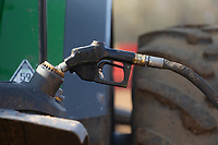 7-3-2021 Filling a tractor with red diesel <br /> ©Tim Scrivener Photographer 07850 303986<br />      ....Covering Agriculture In The UK....