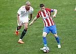 Atletico de Madrid's Gabi Fernandez (r) and Sevilla FC's Steven N'Zonzi during La Liga match. March 19,2017. (ALTERPHOTOS/Acero)