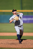 Surprise Saguaros pitcher Mason Melotakis (30), of the Minnesota Twins organization, during a game against the Mesa Solar Sox on October 14, 2016 at Sloan Park in Mesa, Arizona.  Mesa defeated Surprise 10-4.  (Mike Janes/Four Seam Images)