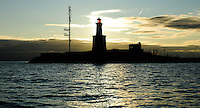 Harmaja Lighthouse and pilot station stands just south of the entrance to Helsinki harbour in the Gulf of Finland.