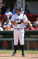 2007:  Matt Joyce of the Erie Seawolves in between pitches during an at bat vs. the Bowie Baysox in Eastern League baseball action.  Photo by Mike Janes/Four Seam Images
