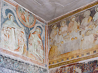 Fresken in Prokulus-Kapelle in Naturns, Vinschgau, Region Südtirol-Bolzano, Italien, Europa<br /> Frescoes in Prokulus Chapel in Naturns, Vinschgau, Region South Tyrol-Bolzano, Italy, Europe