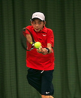 Rotterdam, The Netherlands, 15.03.2014. NOJK 14 and 18 years ,National Indoor Juniors Championships of 2014,  Amadatus Admiraal (NED)<br /> Photo:Tennisimages/Henk Koster