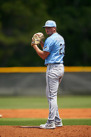 Tampa Bay Rays pitcher Zack Trageton (29) during a Minor League Spring Training game against the Baltimore Orioles on April 23, 2021 at Charlotte Sports Park in Port Charlotte, Florida.  (Mike Janes/Four Seam Images)