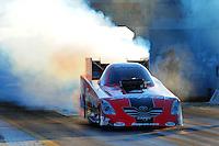 Sept. 23, 2011; Ennis, TX, USA: NHRA funny car driver Cruz Pedregon during qualifying for the Fall Nationals at the Texas Motorplex. Mandatory Credit: Mark J. Rebilas-