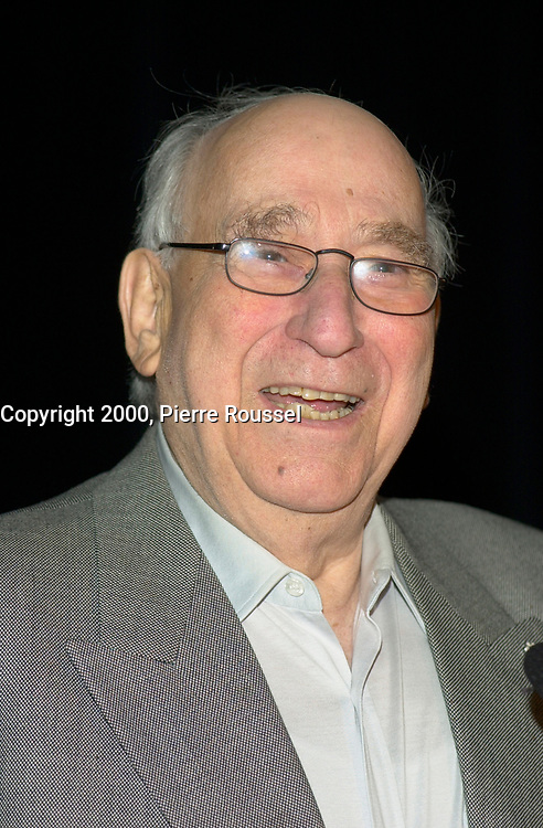October2nd, 2000 File Photo of<br /> The founder of SAM THE RECORDMAN music chain ; Sam Sniderman,adressing the Canadian Retail Council, in Toronto.<br /> <br /> The 50 year old Canadian  chain filed today(october 30th, 2001) for protection from it's creditors and is expecting bankrupcymainly  because of competition from chains suchs as HMV and also because of MP3.<br /> <br /> The company now owned by the son Bobby  , annonced it is closing the Younge St, flagship store on June 30, 2007.<br /> <br /> Photo by Pierre Roussel / I Photo