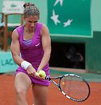 Sara Errani (ITA) wins at Roland Garros in Paris, France on June 1, 2012