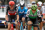 The breakaway including Jonathan Lastra (ESP) Caja Rural-Seguros RGA and Tim Wellens (BEL) Lotto-Soudal during Stage 15 of the Vuelta Espana 2020, running 230.8km from Mos to Puebla de Sanabria, Spain. 5th November 2020. <br /> Picture: Luis Angel Gomez/PhotoSportGomez | Cyclefile<br /> <br /> All photos usage must carry mandatory copyright credit (© Cyclefile | Luis Angel Gomez/PhotoSportGomez)