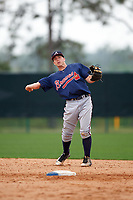 Atlanta Braves Luke Dykstra (18) during an intrasquad Spring Training game on March 29, 2016 at ESPN Wide World of Sports Complex in Orlando, Florida.  (Mike Janes/Four Seam Images)