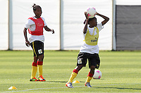 Cameroon Women are seen during a training session at Cardiff University, Cardiff, Wales - 27/07/12 - MANDATORY CREDIT: Gavin Ellis/SHEKICKS/TGSPHOTO - Self billing applies where appropriate - 0845 094 6026 - contact@tgsphoto.co.uk - NO UNPAID USE.