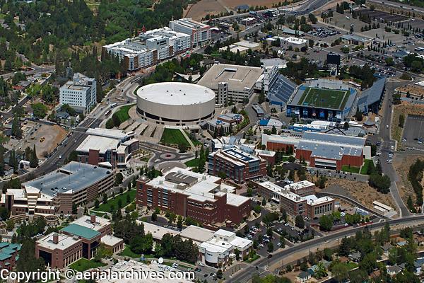 aerial photograph of University of Nevada, Reno, Washoe County, Nevada
