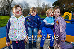 Enjoying the playground in the Tralee town park on Friday, l to r: Emily and Theo De Swardt, Alex and Ella Dowling