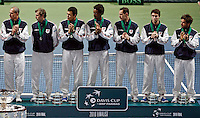 French Davis Cup team , during closing ceremony,  Davis Cup finals, Serbia vs France in Belgrade Arena in Belgrade, Serbia, Sunday, 5. December 2010. (credit & photo: Pedja Milosavljevic/SIPA PRESS)
